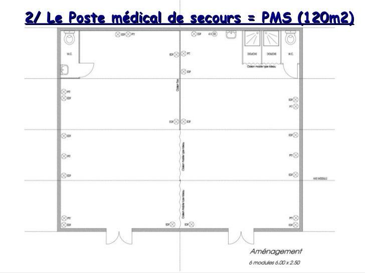 Entrée 2/ Le Poste médical de secours = PMS (120m2)