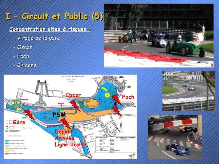 I – Circuit et Public (5). <ul><li>Concentration sites à risques : </li></ul>Foch Oscar Gare Départ Arrivée Ligne droite P...