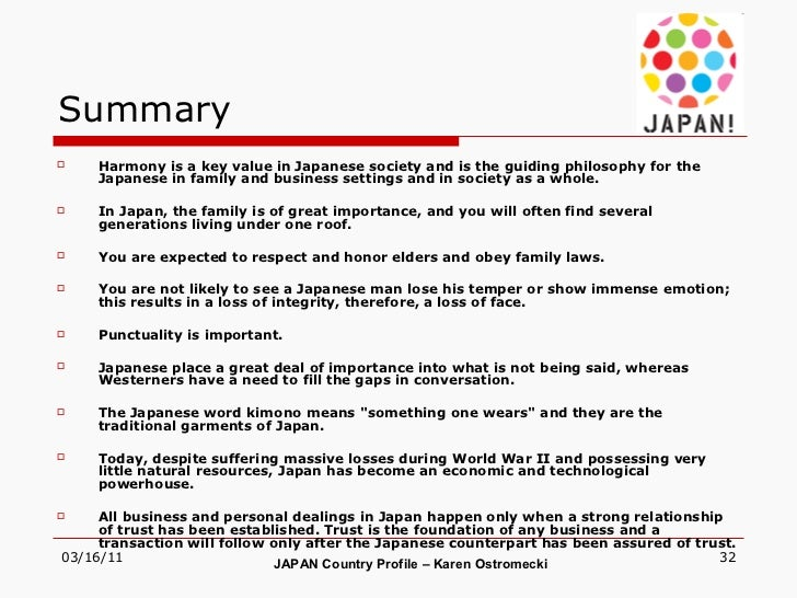 country overview japan essay Case analysis 2 - google's country experiences: france, germany, japan google has run into many different issues in trying to expand itself internationally in an effort to increase its market share essay on germany - country overview.