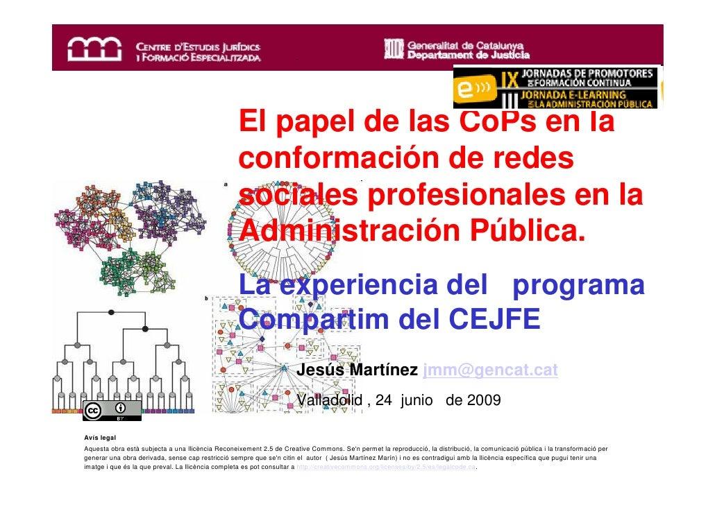 El papel de las CoPs en la                                                       conformación de redes                    ...