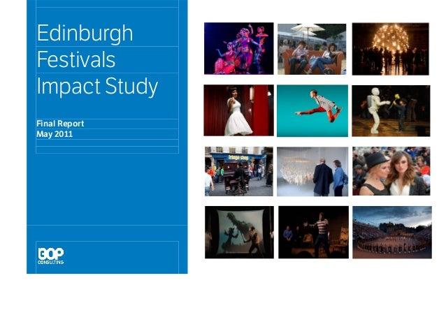 Edinburgh Festivals Impact Study Final Report May 2011