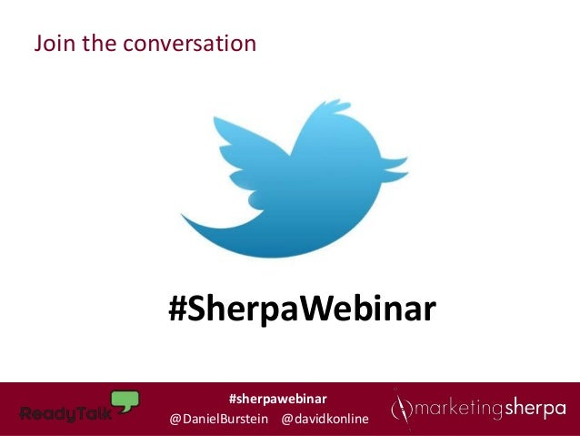 Join the conversation            #SherpaWebinar                    #sherpawebinar                    #sherpawebinar       ...