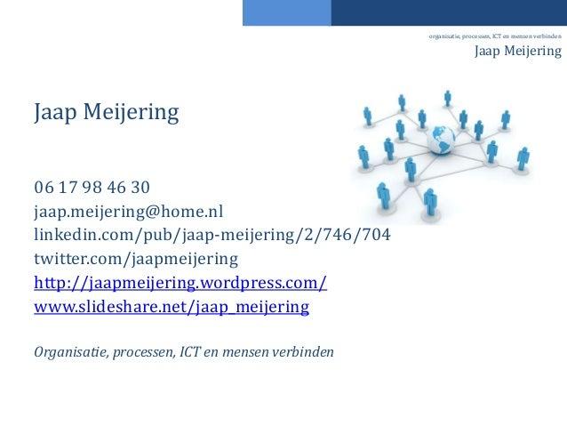 Jaap Meijering 06 17 98 46 30 jaap.meijering@home.nl linkedin.com/pub/jaap-meijering/2/746/704 twitter.com/jaapmeijering h...