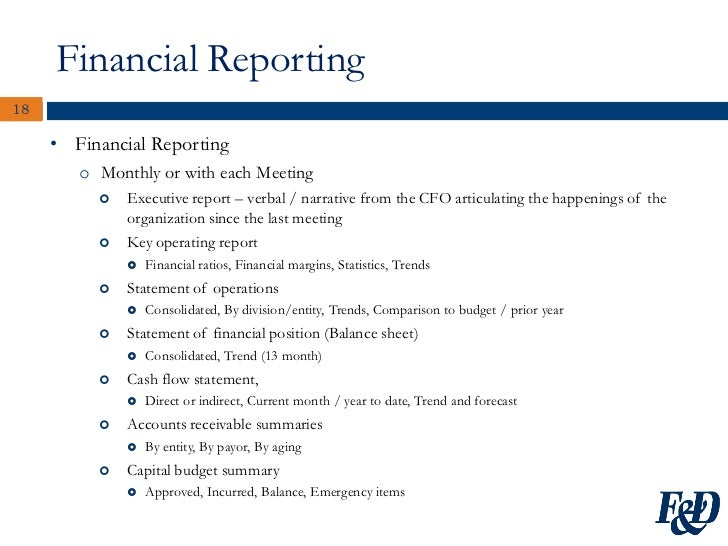 A Trustees Guide to Nonprofit Finance – Monthly Financial Report Sample