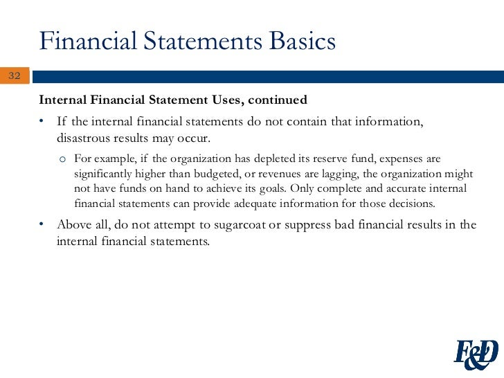sample financial report for non profit organization