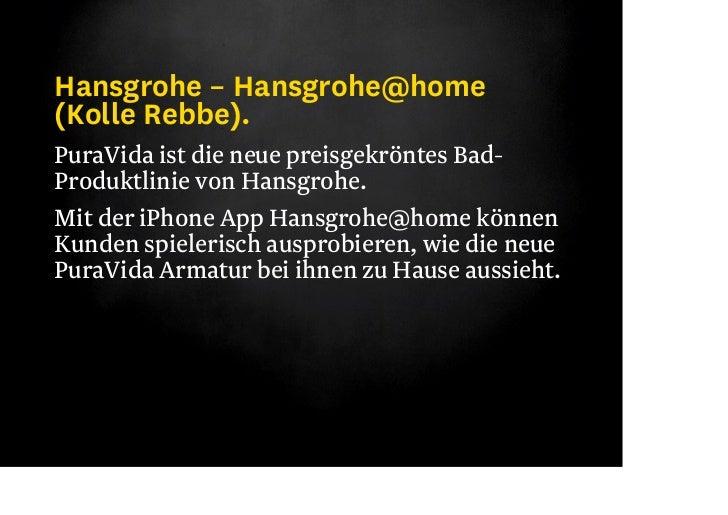KOLLE REBBE– HANSGROHEHansgrohe@home