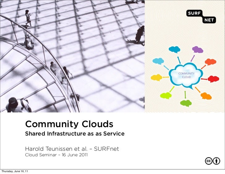 Community Clouds                  Shared Infrastructure as as Service                  Harold Teunissen et al. – SURFnet  ...