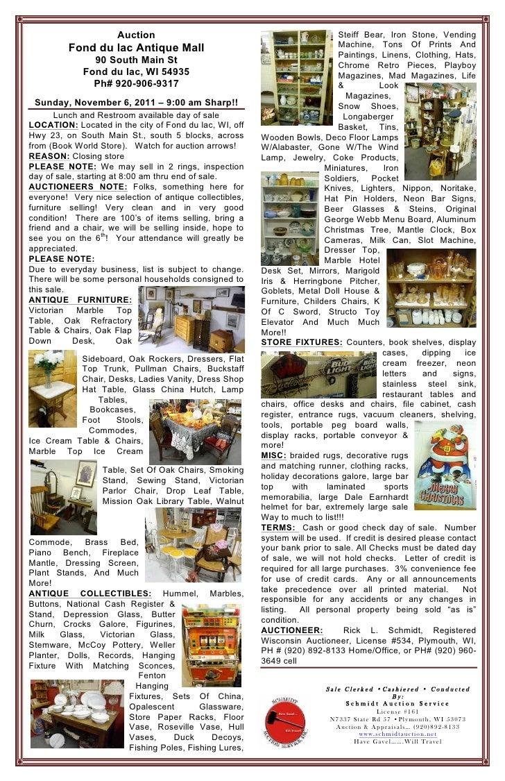 Auction                                                  Steiff Bear, Iron Stone, Vending         Fond du lac Antique Mall...