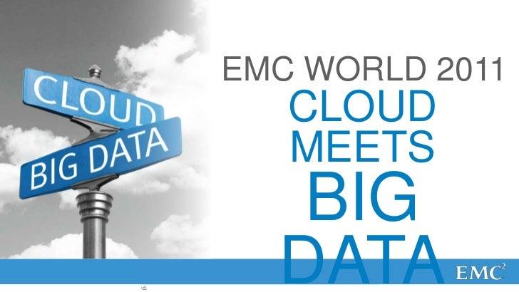 EMC WORLD 2011                                                            CLOUD                                           ...