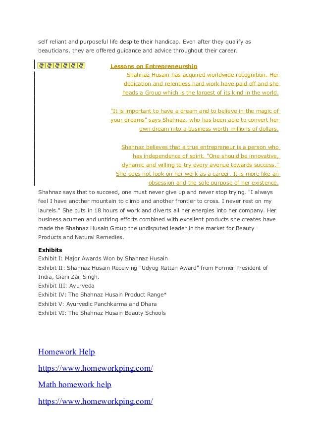 Case study of shehnaz hussain