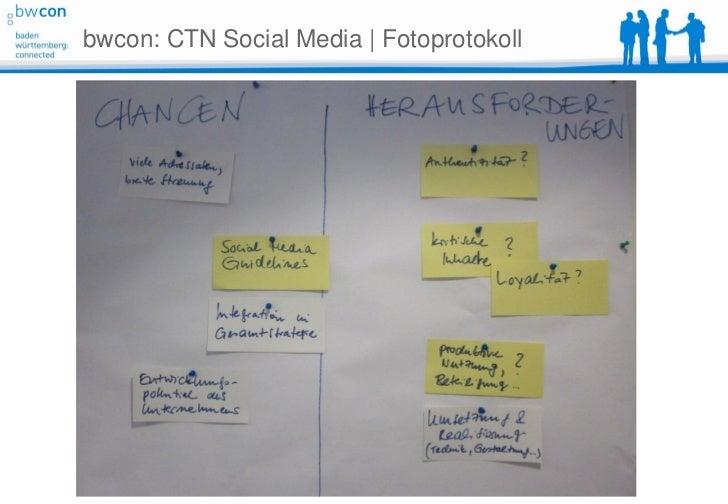 bwcon: CTN Social Media | Fotoprotokoll