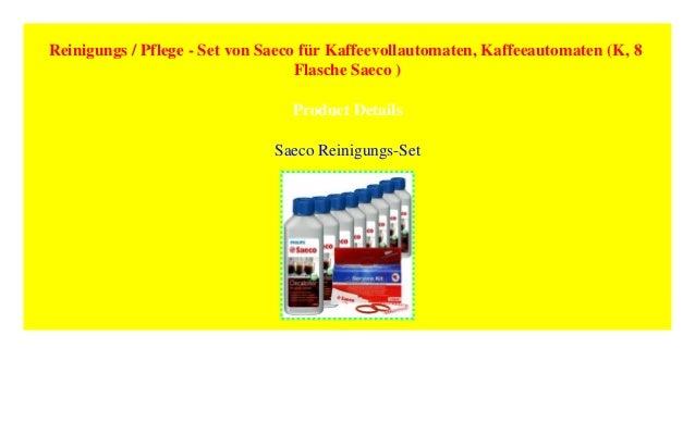 Set von Saeco für Kaffeevollautomaten Kaffeeautomaten Reinigungs // Pflege ...