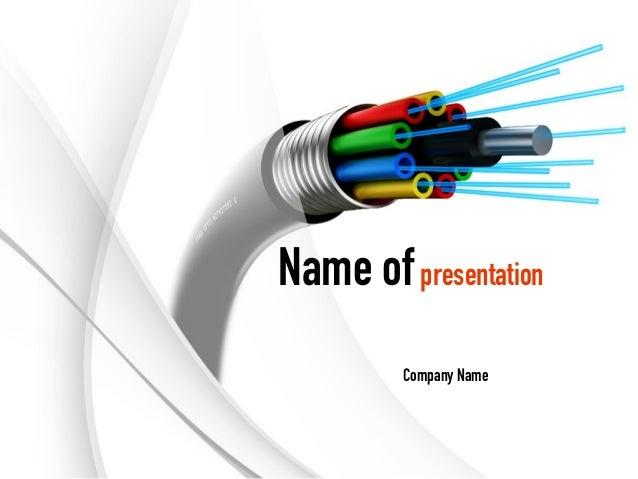 fiber optic cable powerpoint template rh slideshare net