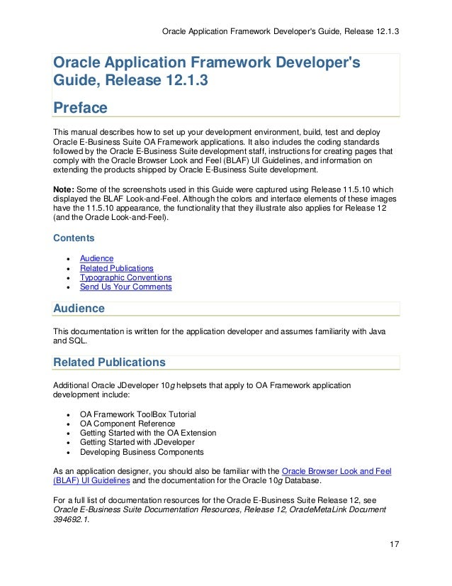 oa framework extension guide various owner manual guide u2022 rh justk co Oracle 10G Express Oracle 11G Icon