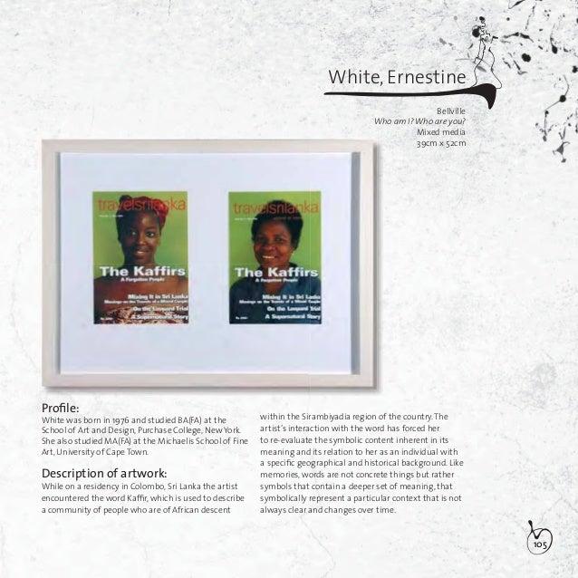 106Whitehead, Johanna Jacoba (Hanje)JohannesburgPartouse de poisons (Orgy of fish)Mixed media42cm x 12,5cm x 120,5cmProfile...