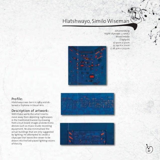 48Hlungwani, Staurose PhillemonJohannesburgKuhavankariwaku wisa IMixed media115,5cm x 147,5cmProfile:Hlungwani was born in...