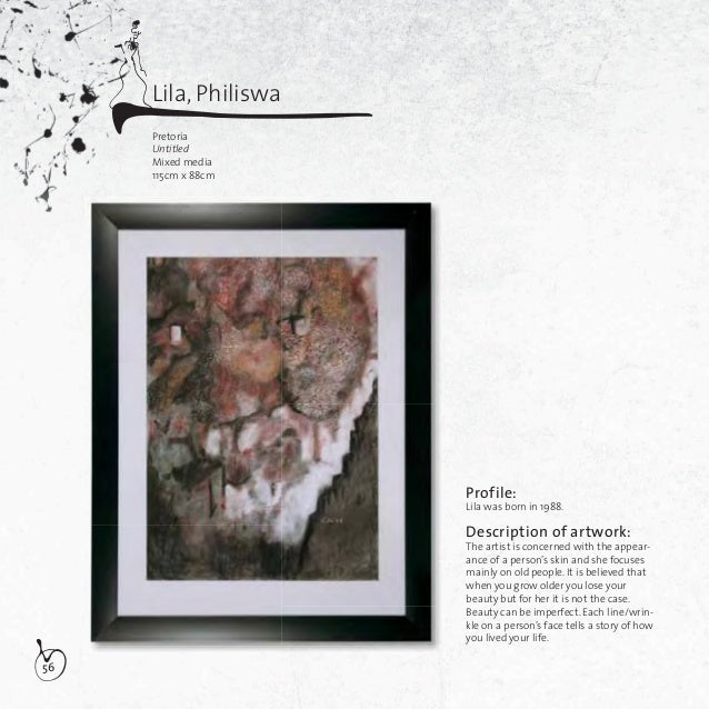 57Description of artwork:The artist gives recognition to one ofSouth Africa's living pioneer artistsnamely Noria Mabasa.Th...