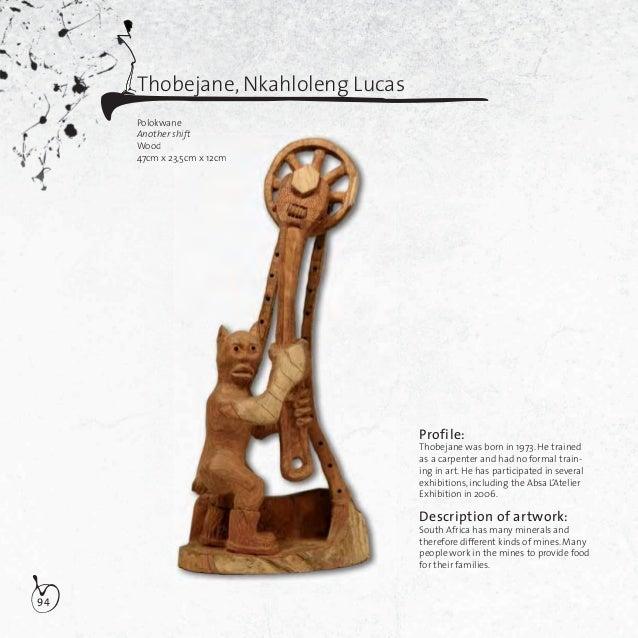 95Thobejane, Nkahloleng LucasPolokwaneSarie tea pleaseWood40cm x 12,5cm x 10,5cmDescription of artwork:There is a man call...