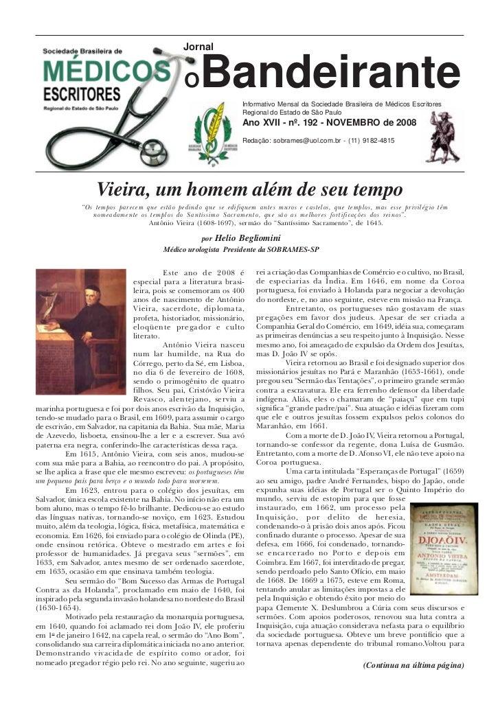 Jornal                                              O    Bandeirante  Informativo Mensal da Sociedade Brasileira de Médico...