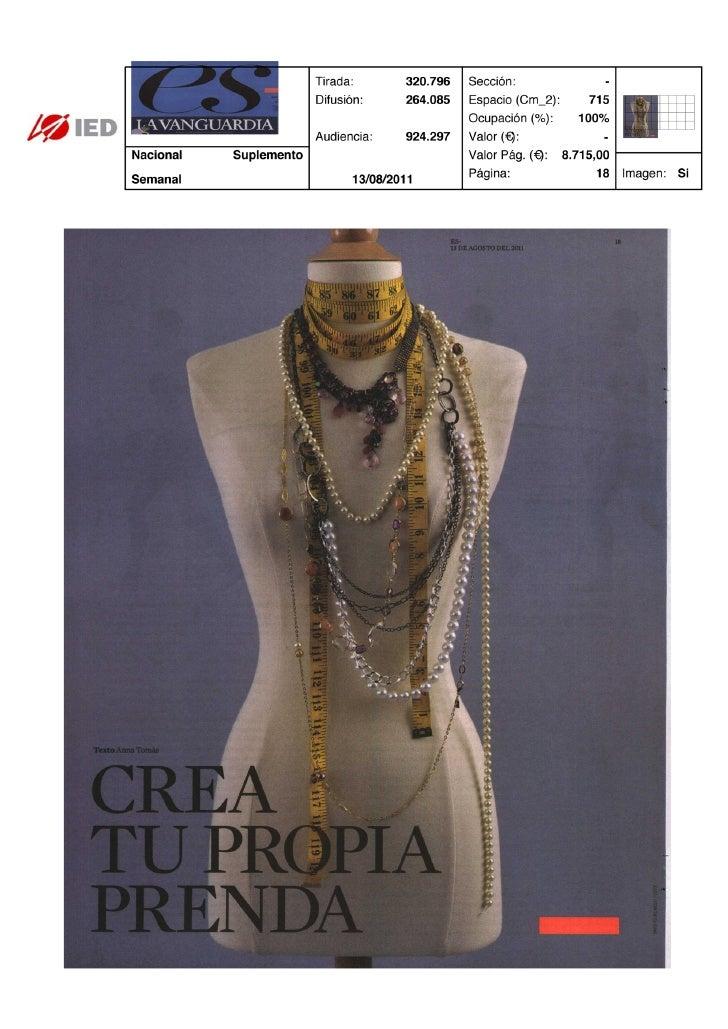 Clipping ES La Vanguardia 03/08/11 @iedbarcelona
