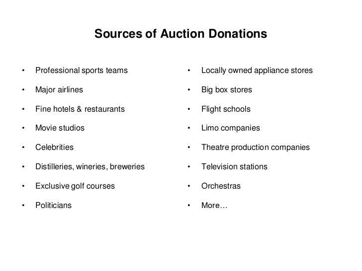 Obtaining Quality Auction Items
