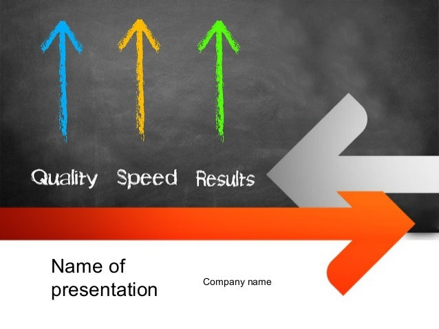 Quality Speed Results Powerpoint Template