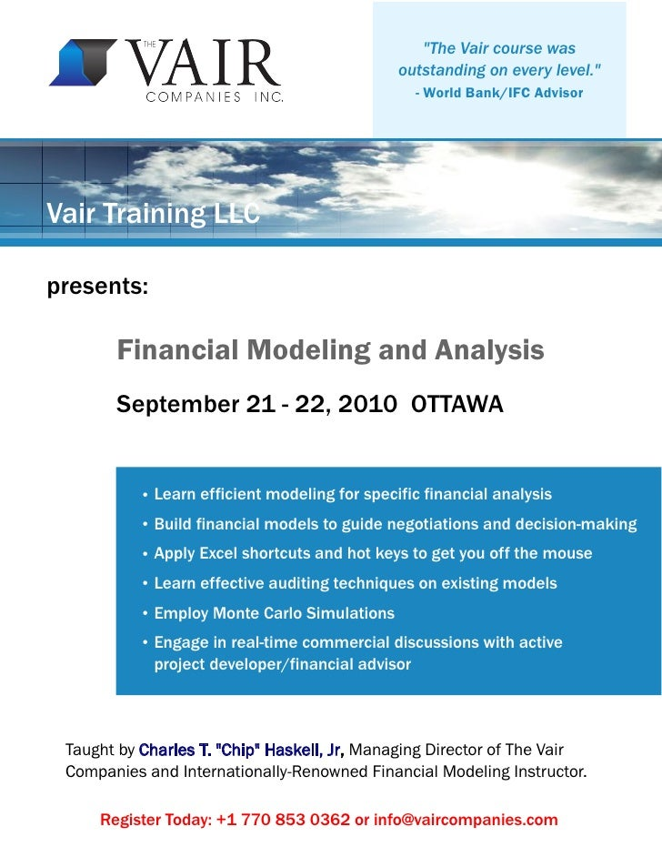 Financial Modelling - Lecture 1 Essay