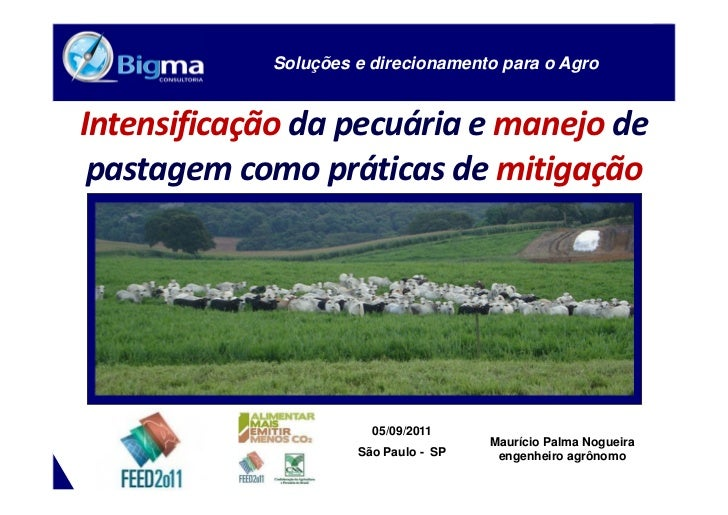 INTENSIFICAÇÃO DA PECUÁRIA E MANEJO DE      WWW.BIGMA.COM.BR          PASTAGEM COMO PRÁTICAS DE MITIGAÇÃO                 ...