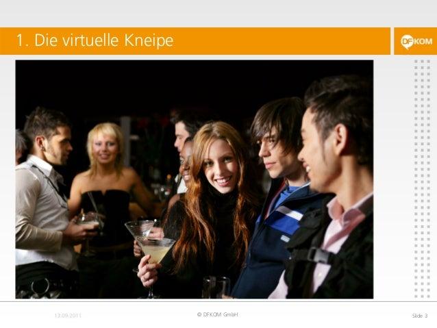 1. Die virtuelle Kneipe © DFKOM GmbH Slide 3