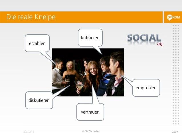 Die reale Kneipe © DFKOM GmbH Slide 4 erzählen kritisieren empfehlen diskutieren vertrauen
