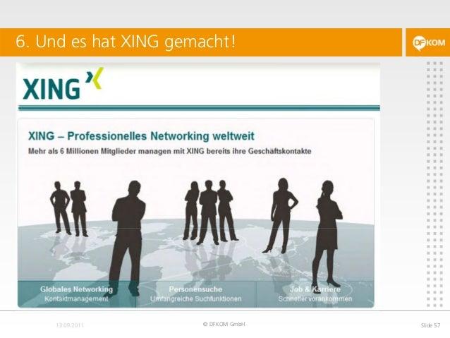6. Und es hat XING gemacht! © DFKOM GmbH Slide 57