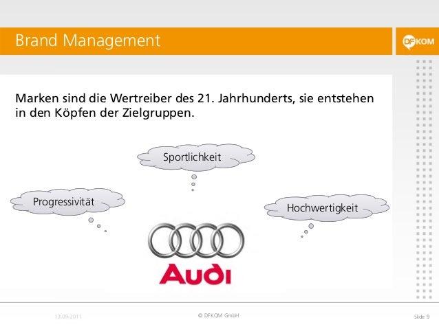 Marken sind die Wertreiber des 21. Jahrhunderts, sie entstehen in den Köpfen der Zielgruppen. Brand Management © DFKOM Gmb...