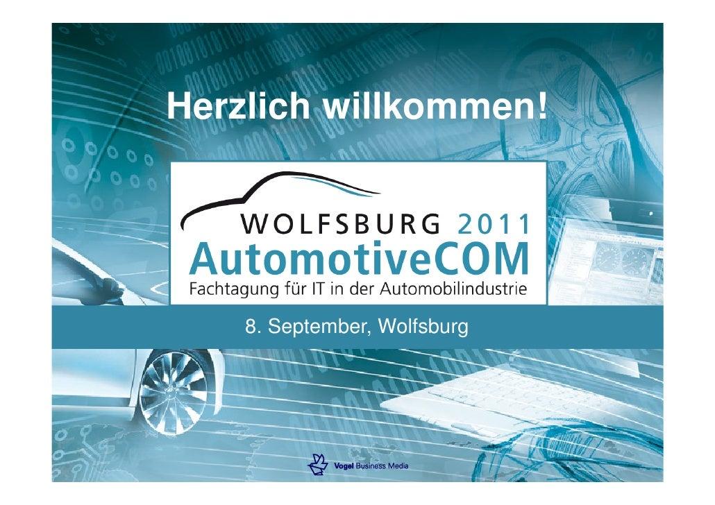 Herzlich willkommen!    8. September, Wolfsburg