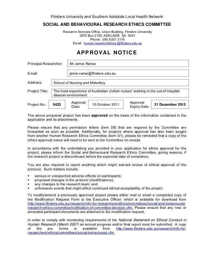 National Ethics Application Form