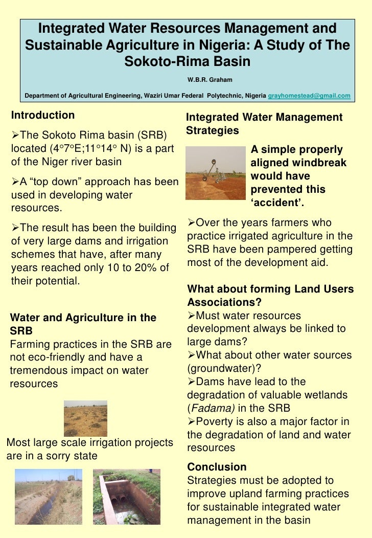 Integrated Water Resources Management and    Sustainable Agriculture in Nigeria: A Study of The                  Sokoto-Ri...