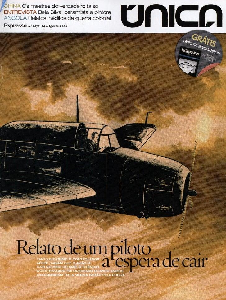 Relato de um piloto à espera de cair