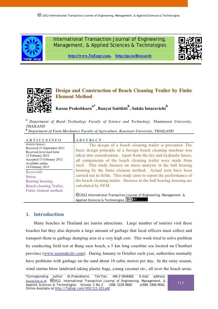 2012 International Transaction Journal of Engineering, Management, & Applied Sciences & Technologies.                  Int...