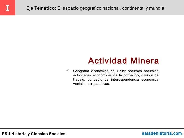 I          Eje Temático: El espacio geográfico nacional, continental y mundial                                            ...