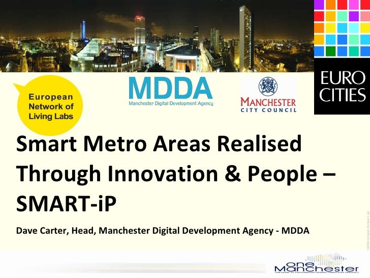 Dave Carter - Smart metro Areas Realised Through Innovation & People - SMART-iP