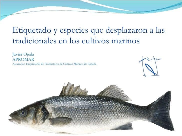 Etiquetado y especies que desplazaron a las tradicionales en los cultivos marinos Javier Ojeda APROMAR  Asociación Empresa...