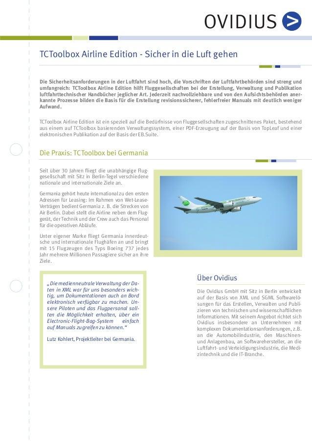 TCToolbox Airline Edition - Sicher in die Luft gehen Die Sicherheitsanforderungen in der Luftfahrt sind hoch, die Vorschri...