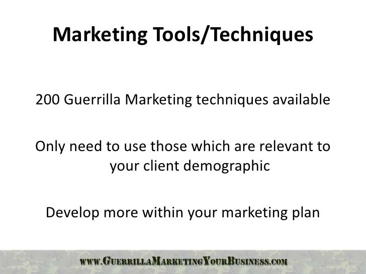 """innovative marketing strategies Innovative new marketing strategies such as guerrilla marketing guerrilla marketing offers new and unusual opportunities to counter the increasing consumer aver- sion to advertising 2 characterization of guerrilla marketing  the term """"guerrilla"""" originates with the military """"guer-  guerrilla marketing innovative or parasitic marketing."""