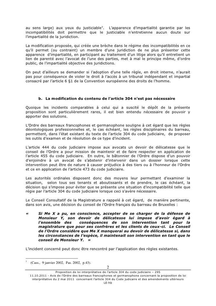 11 10 2011 avis obfg prop loi interpré du 2 mai 2001 Slide 2
