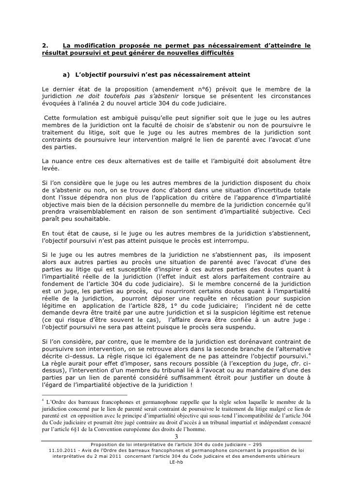 11 10 2011 avis obfg prop loi interpré du 2 mai 2001 Slide 3