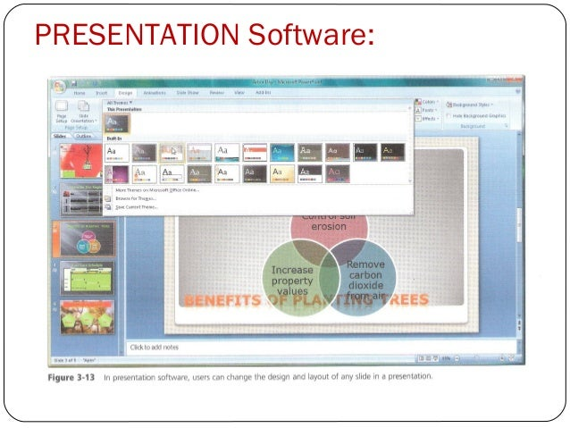 what is a presentation application software