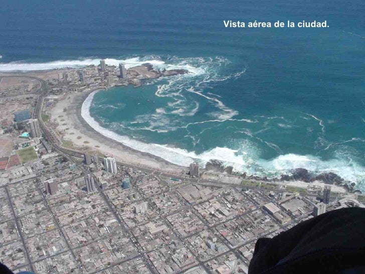 Vista aérea de la ciudad.