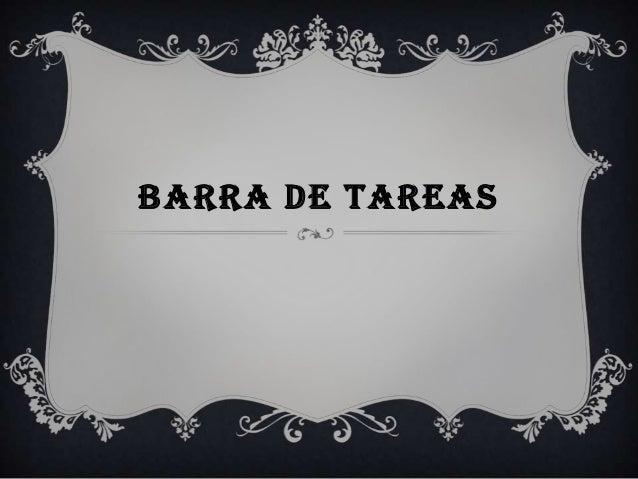 BARRA DE TAREAS