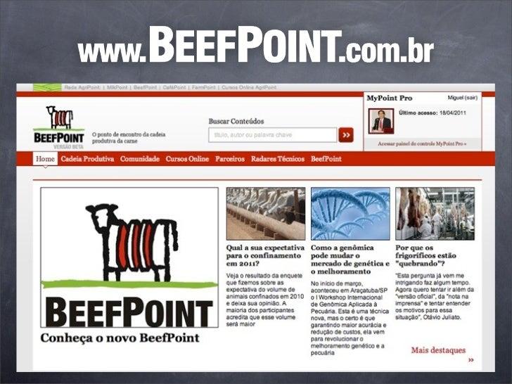 Principal portal dedicado a cadeia da           carne brasileira.   Análises de mercado, cotações, estudos de tendências d...
