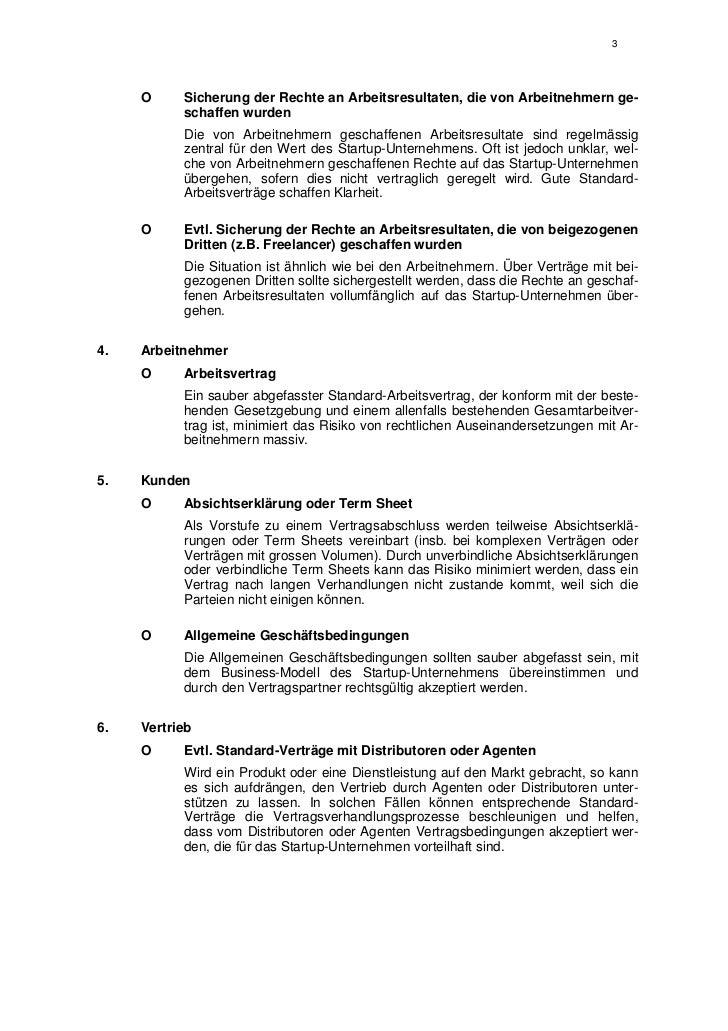 Checkliste Für Startup Unternehmen Schweizer Recht