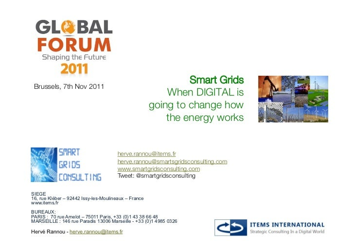 Smart Grids! Brussels, 7th Nov 2011                                                          When DIGITAL is              ...